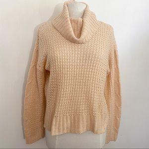 MORAL FIBER cowl neck pullover sweater soft fuzzy
